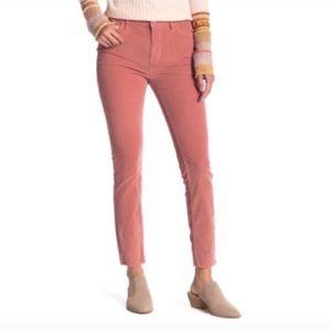 We The Free Pink Raw Hem Corduroy Pants